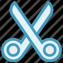 crop, cut, cutting, edit, scissors, split, trim icon