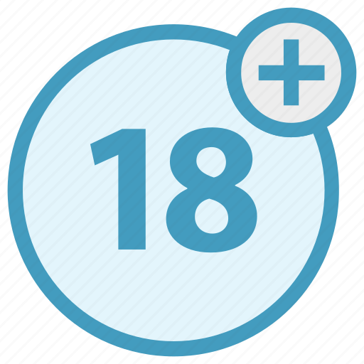 18 plus, age, cinema, film, movie, multimedia, player icon