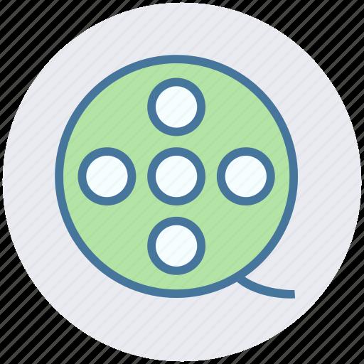 Cinema, entertainment, film, movie, reel, roll, spool icon - Download on Iconfinder