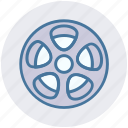 cinema, entertainment, film, movie, reel, roll, spool