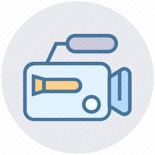 Camera, cinema, entertainment, film, movie, video, video camera icon - Download on Iconfinder