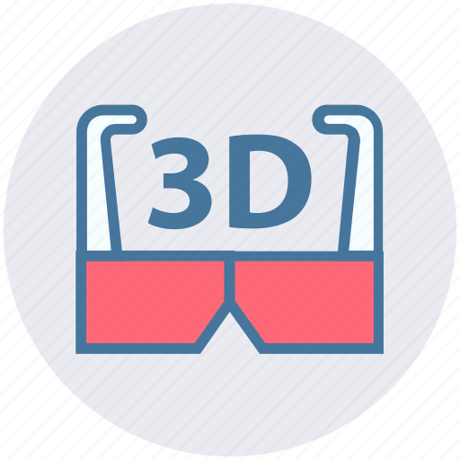 3d, 3d glasses, cinema, entertainment, film, goggles, movie icon - Download on Iconfinder