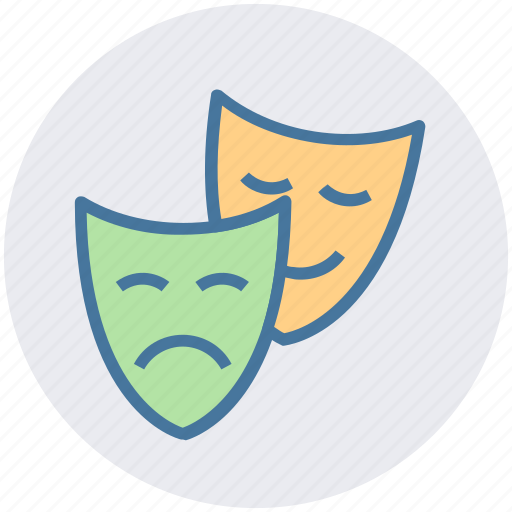 Cinema, entertainment, masks, miscellaneous, play, theater, theatre icon - Download on Iconfinder