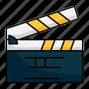 action, clapperboard, film, movie