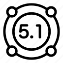 cinema sound audio icon