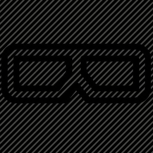 cinema, glasses icon