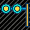 binoculars, movie, see icon