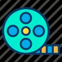 film, reel, video icon