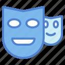 actor, comedy, masks, theatre icon