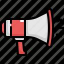 advertising, announcement, loudspeaker, megaphone, speaker