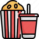 cinema, food, meal, movie, popcorn, snack, softdrink