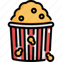 cinema, entertainment, food, movie, popcorn, snack, sweet