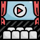 cinema, entertainment, media, movie, player, theater
