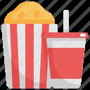 beverage, cinema, entertainment, food, movie, popcorn, softdrink