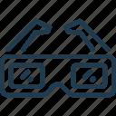 cinema, film, glasses, movie, tv, video icon
