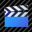 cinema, clapperboard, film, movie