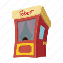 box, cartoon, cinema, film, movie, office, ticket icon