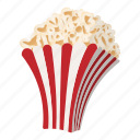 cartoon, corn, delicious, movie, pop, popcorn, snack icon