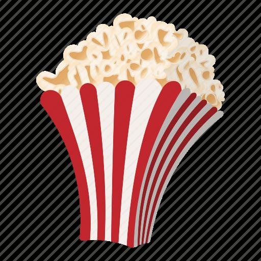 cartoon, corn, delicious, movie, pop, popcorn, snack icon