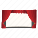 cartoon, entertainment, presentation, scene, show, stage, theater icon