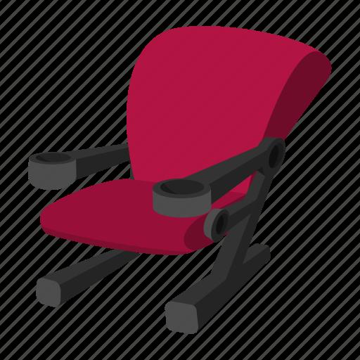 auditorium, cartoon, chair, cinema, recreation, seat, theater icon