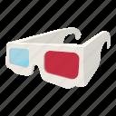 eyesight, glasses, movie, paper, stereoscopic, three, vision icon