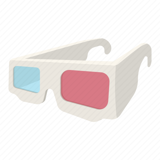 eyesight, glasses, movie, paper, stereoscopic, three, vision icon