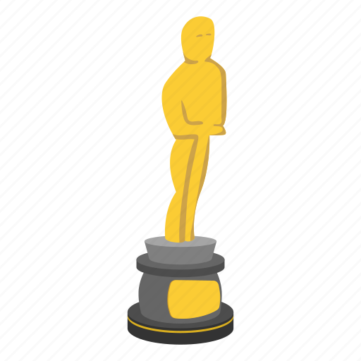 award, gift, prize, reel, statue, trophy, win icon