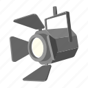 bulb, lamp, light, movie, show, spotlight, studio icon
