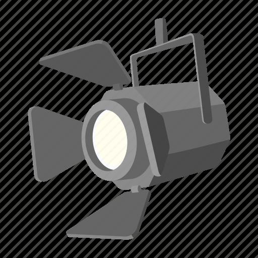 bulb, lamp, light, movie, show, spotlight, studio icon