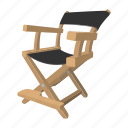 chair, cinema, director, photo, studio, theater, video icon