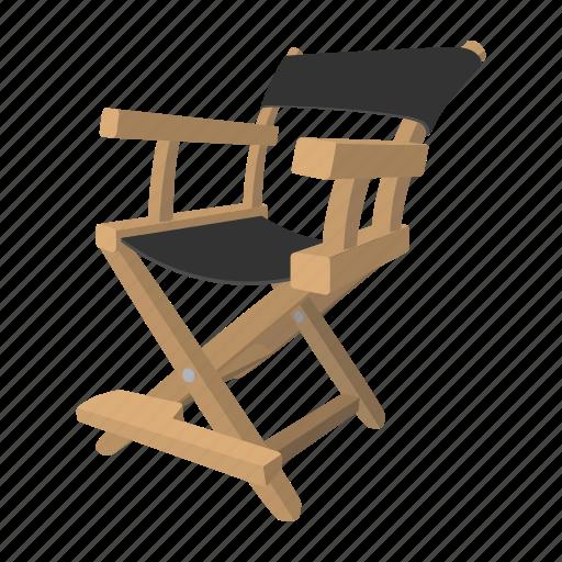 chair, cinema, director, photo, studio, theater, video icon