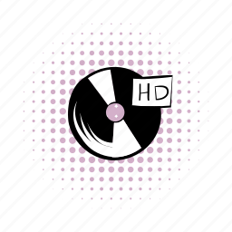 audio, comics, disco, label, music, retro, sound icon