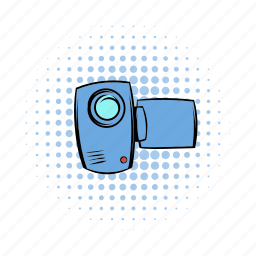 camcorder, camera, comics, media, technology, television, video icon