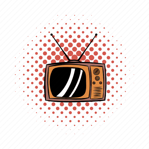 comics, electronic, old, screen, television, tv, vintage icon