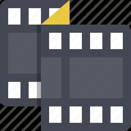 entertainment, filmroll, filmstrip, multimedia, reel, roll, video icon