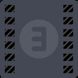 entertainment, filmroll, filmstrip, multimedia, reel icon