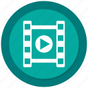 clip, film, movie, multimedia, play, short, video icon