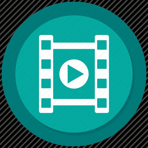 clip, film, movie, multimedia, play, short, video icon