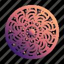circle, doodles, floral, mandala, mandalas, ornaments, pattern icon
