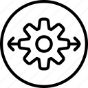 cog, gear, interface, interface button, process icon