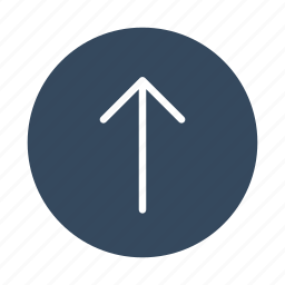 arrow, direction, move, up, upload icon