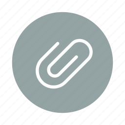 attach, attachment, clip, document, office, paper clip icon