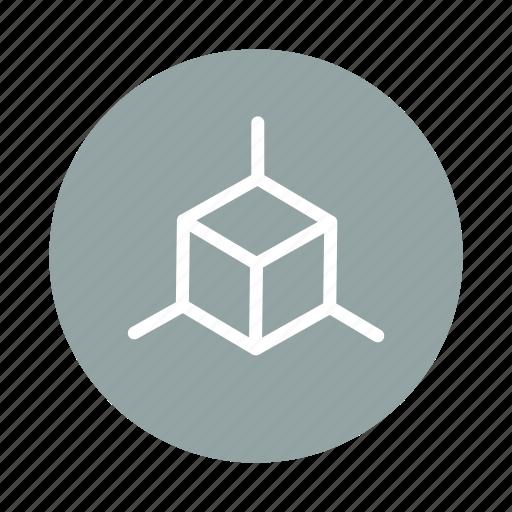 box, corner, cube, design, development, dimension icon