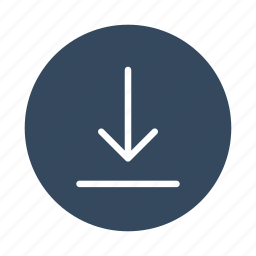 arrow, down, download, guardar, open, save, sync, update icon
