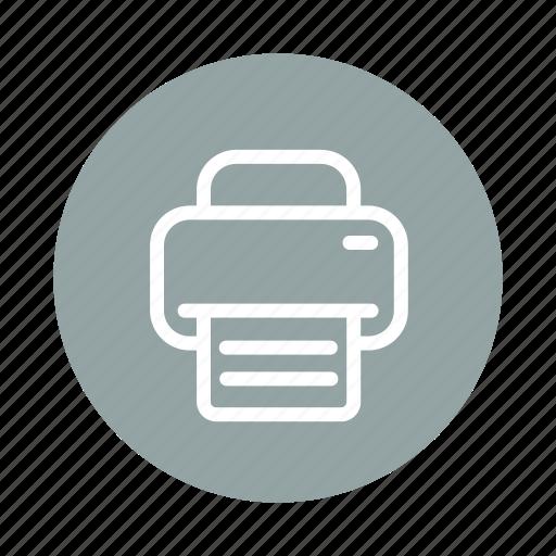 device, print, printer, tech, technology icon