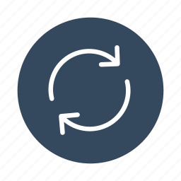 arrows, circle, recycle, refresh, reload, sync icon