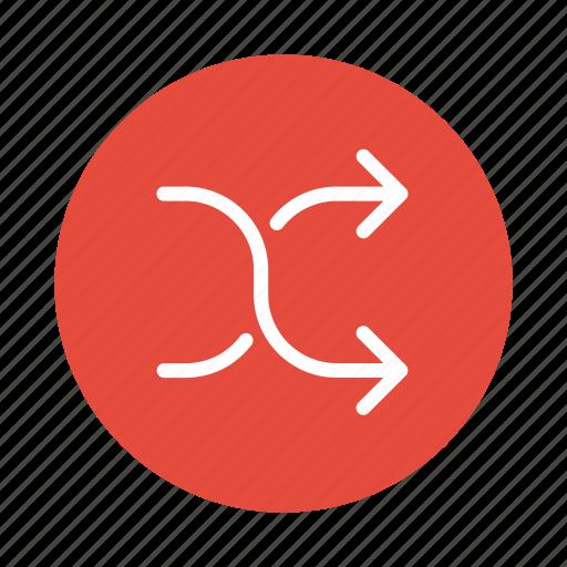 arrows, change, direction, exchange, remix, shuffle, swap icon