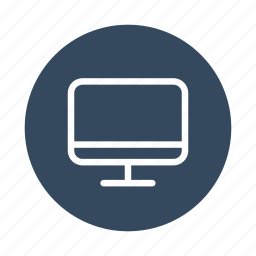 computer, monitor, pc, screen, television, tv icon