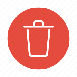 bin, can, delete, recycle, remove, trash, trash can icon